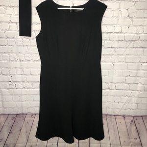 Black Anne Klein Belted Dress